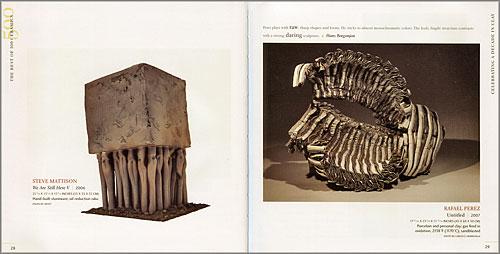 """Páginas interiores del libro """"500 Ceramics"""""""