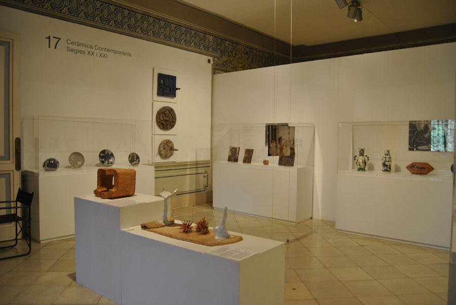 Sala de cerámica contemporánea del Museo de Cerámica de Barcelona