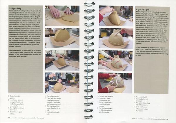 "Páginas interiores del libro ""The Art of Ceramic Decoration"""