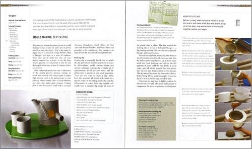 """Paginas interiores del libro """"The Workshop Guide to Ceramics"""""""