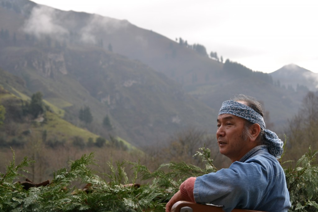 Masakazu Kusakabe en Tuña (Asturias) (Foto: Román Fernández)