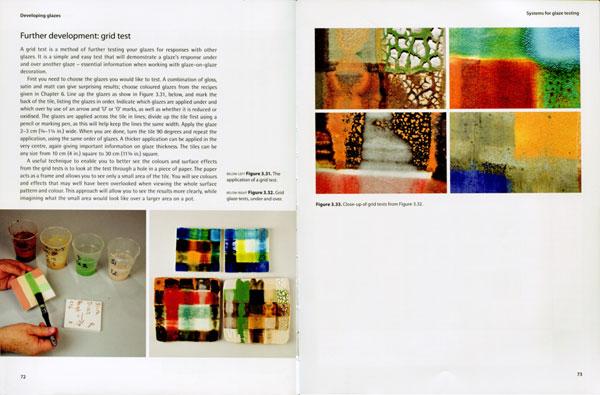 Páginas interiores del libro Developing Glazes