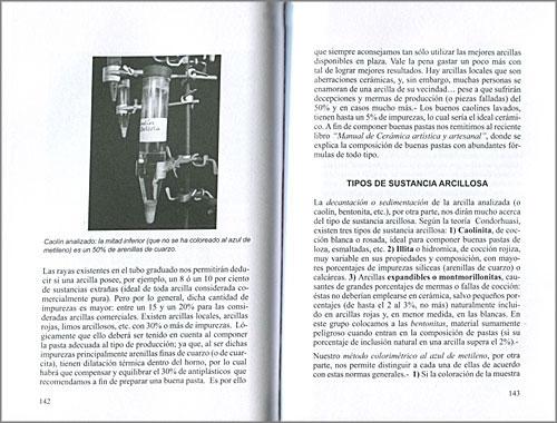 """Páginas interiores del libro """"Analisis de Arcillas, caolines y materiales cerámicos"""""""