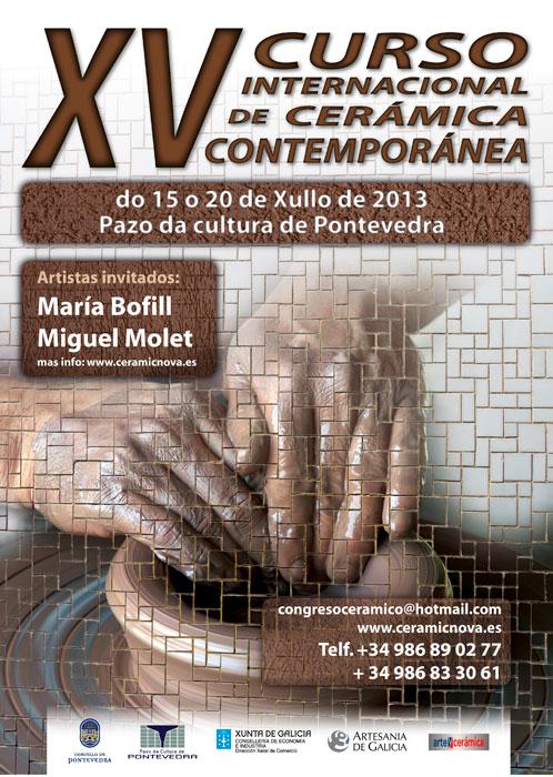 Cartel del Curso de Cerámica de Pontevedra 2013