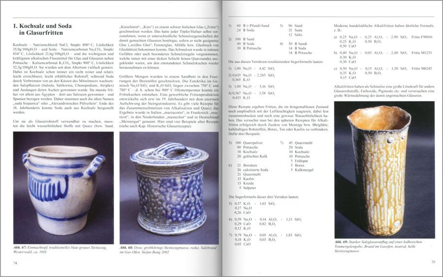 Páginas interiores del libo Keramische Glasuren