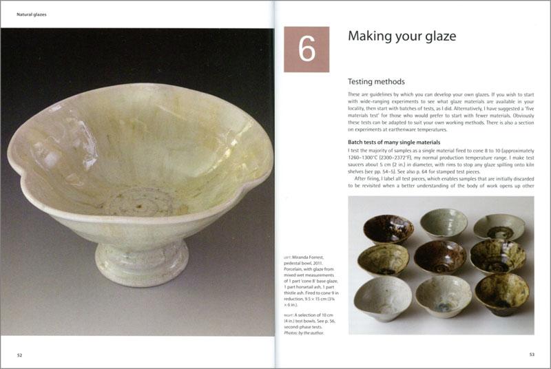 Páginas interiores del libro Natural Glazes