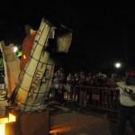 Cocción de escultura de fuego en Toledo