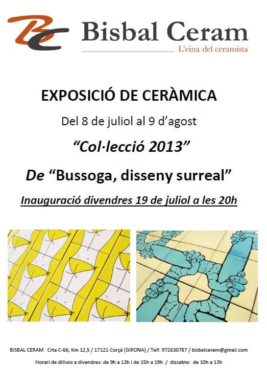 Cartel de la exposición de Bussega