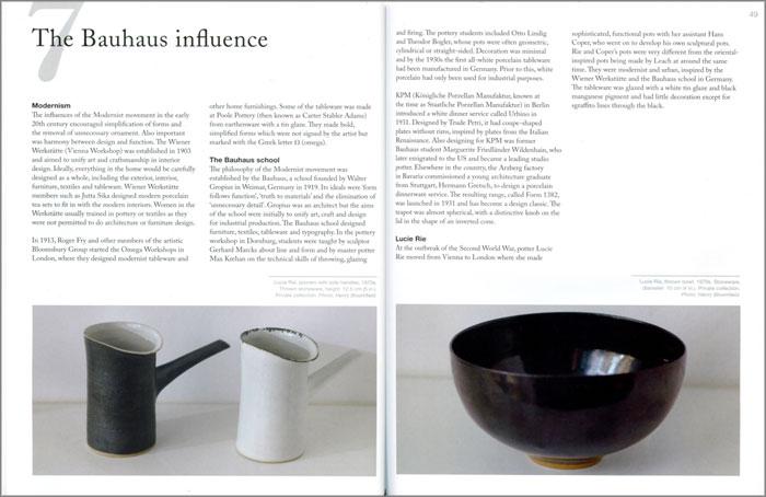Páginas interiores del libro Contemporary Tableware