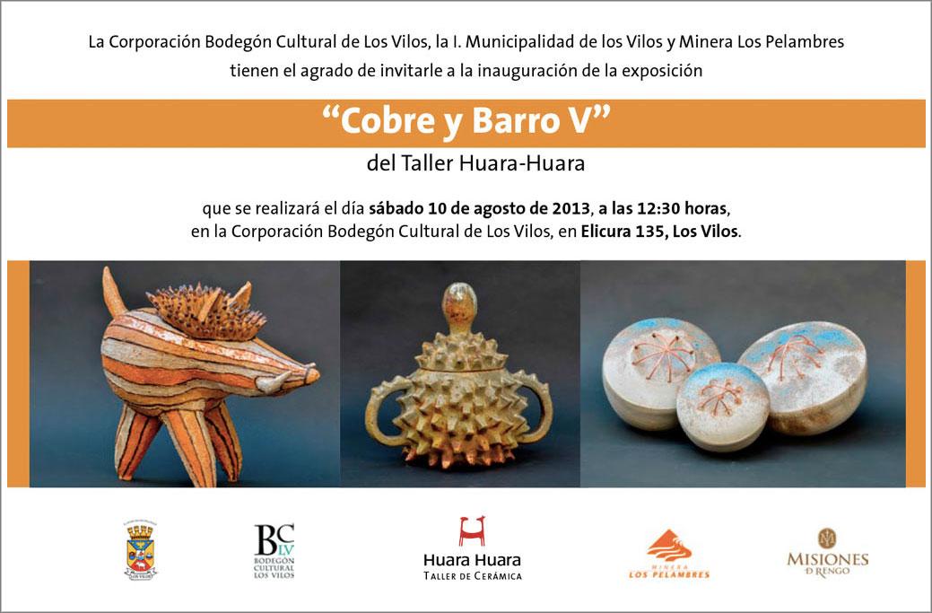 """Cartel de la exposición """"Cobre y barro v"""""""