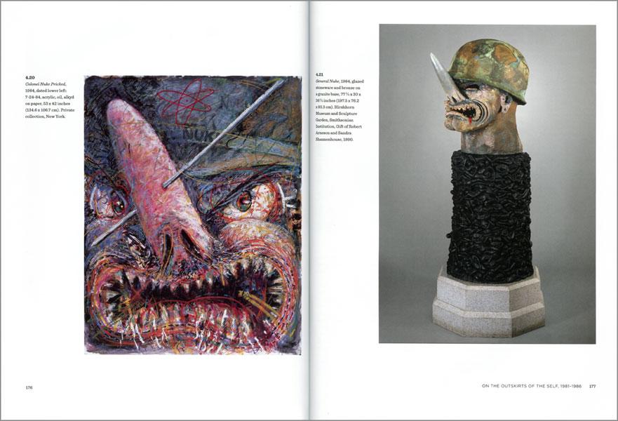 Páginas interiores del libro dedicado a Robert Arneson