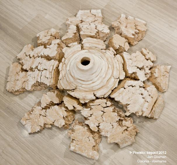 pieza de cerámica Jan Glisman