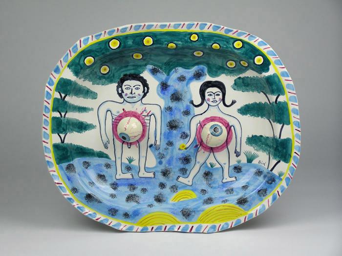 Pieza de cerámica de Stephen Bird