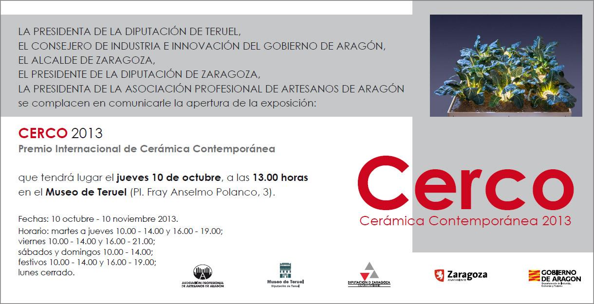 Tarjetón a la exposición CERCO 2013