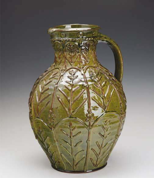 Pieza de cerámica de Doug Fitch
