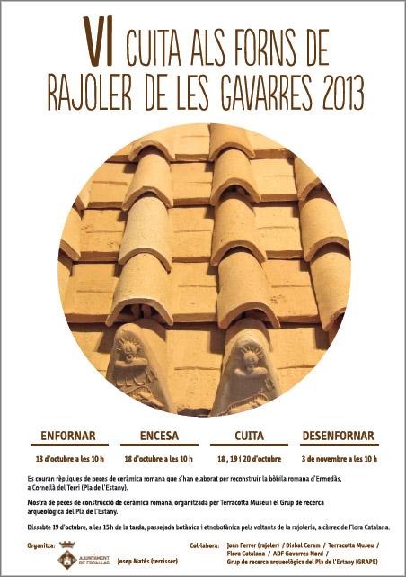 Cartel de la cocción en Les Gavarrres