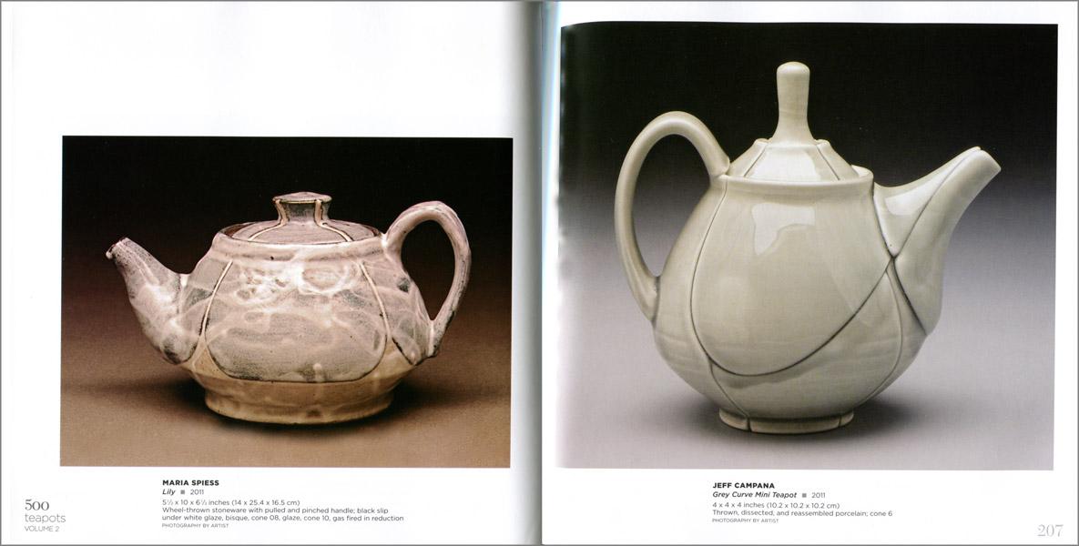 Páginas interiores del libro 500 Teapots