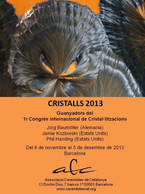 Cartel de la Exposición Cristalls