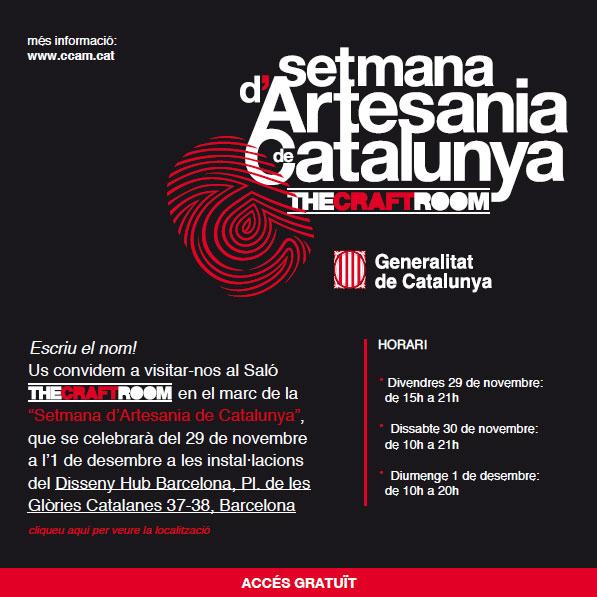 Cartel de la semana de la artesanía de cataluña