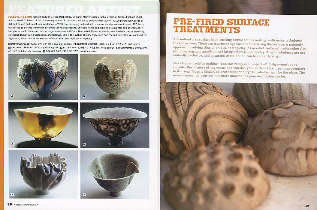 """Páginas interiores del libro """"Pinch Pottery"""""""