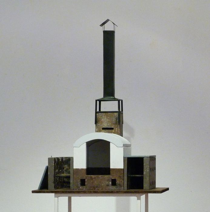 Maqueta del horno diseñado por Vicente Sánchez