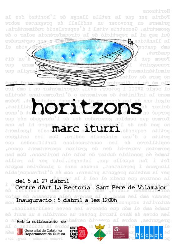 Cartel de la exposición de Marc Iturri