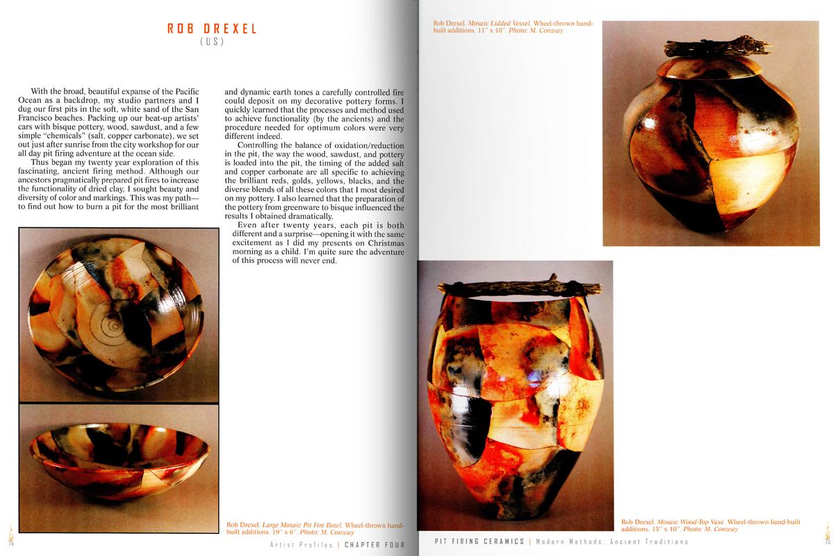 Páginas interiores del libro Pit Firing