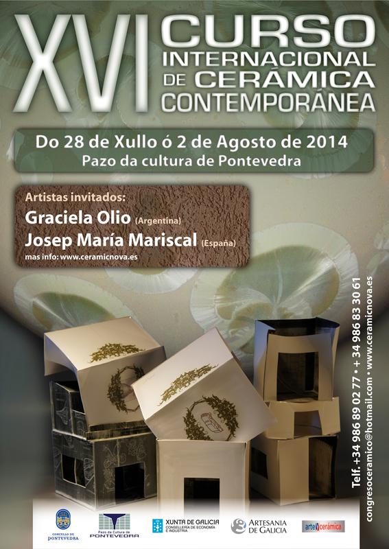Cartel del Curso de Cerámica de Pontevedra 2014
