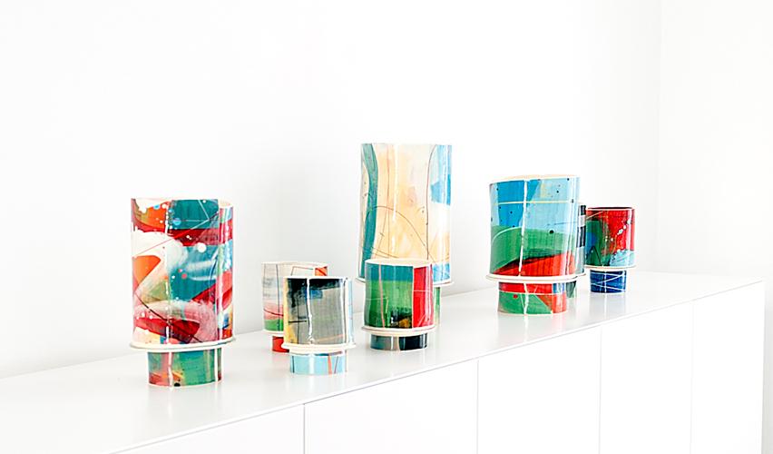Vista de la exposición de Elke Sada