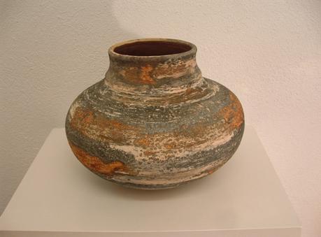 Pieza de cerámica de Carlets torrent con la técnica de engobes salinos