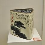 Pieza de cerámica china, Vaso triangular