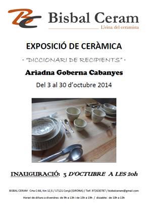 Cartel de la exposición de Ariadna Goberna