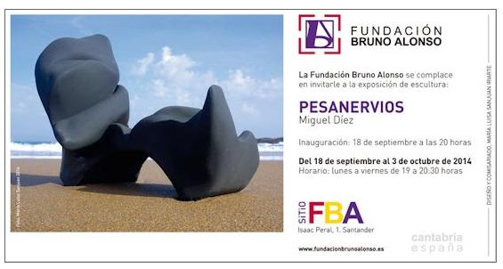 Cartel de la exposición de Miguel Díaz