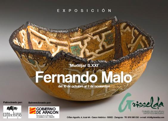 Invitación de la exposición de Fernando Malo