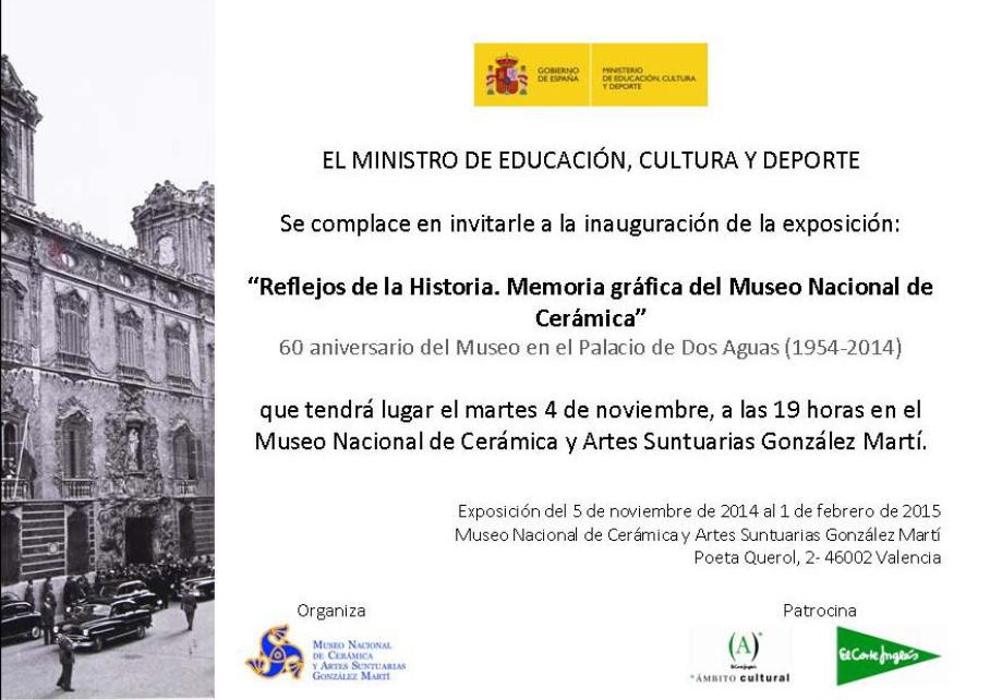 Cartel de la Exposición Reflejos de la Historia. Memoria gráfica del Museo Nacional de Cerámica