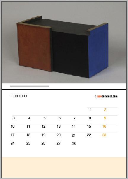 imgen de calendario Infocerámica 2014