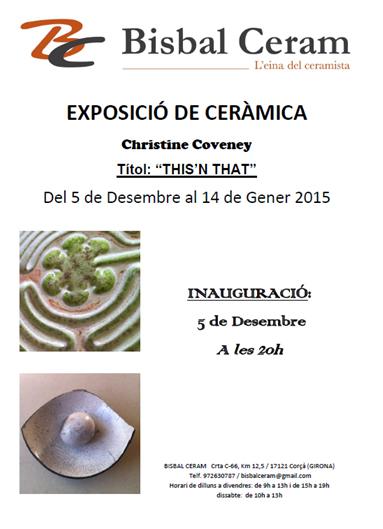Cartel de la exposición de Christine Conveney