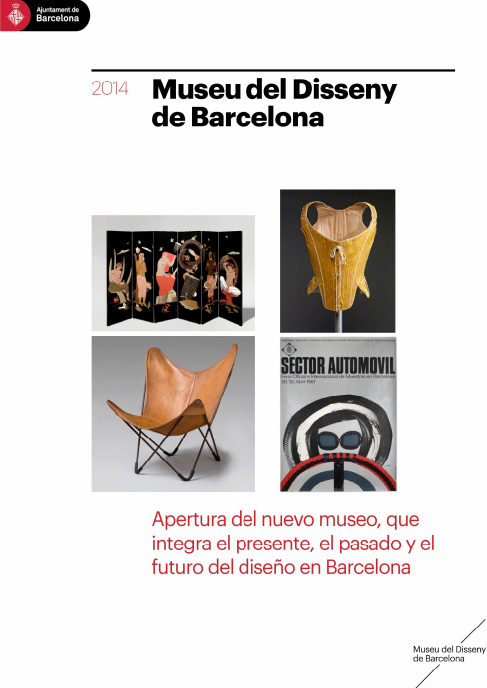 Portada del dossier del Museu del Disseny de Barcelona