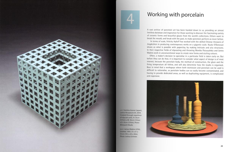 Páginas interiores del libro -Porcelain_, de Vivienne Foley