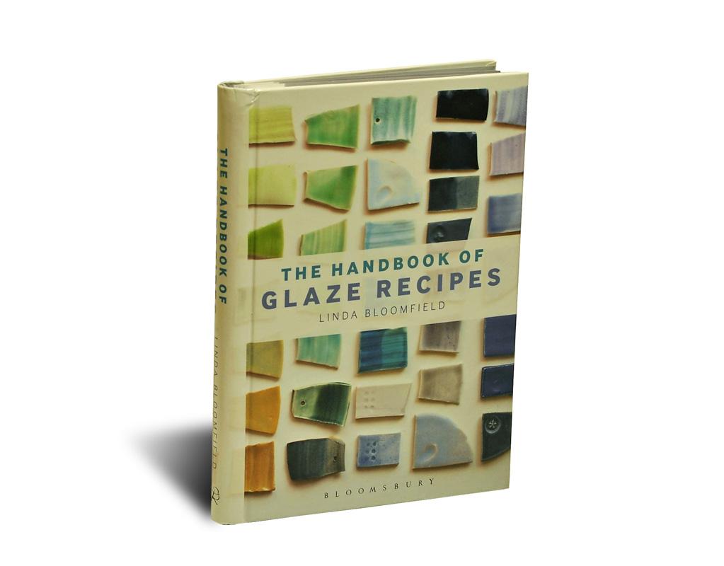 Portada del libro The Handbook of Glaze Recipes, de Linda Bloomfield para la editorial Bloomsbury