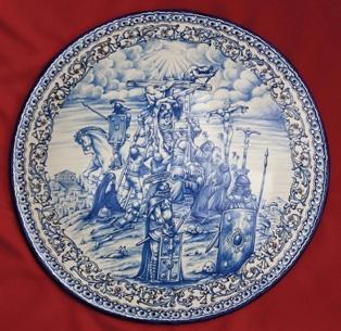 Plato del certamen de cerámica de Talavera de la Reina