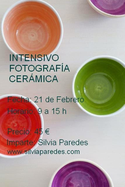 Cartel del curso de fotografía de cerámica