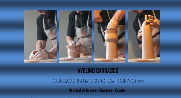 Cartel del curso de torno de Avelino Carrasco Durán