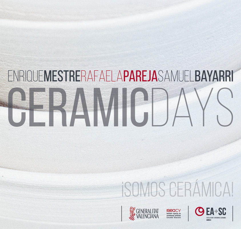 Cartel de las jornadas -Ceramic days-