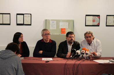 Foto de la rueda de prensa de presentación de la feria