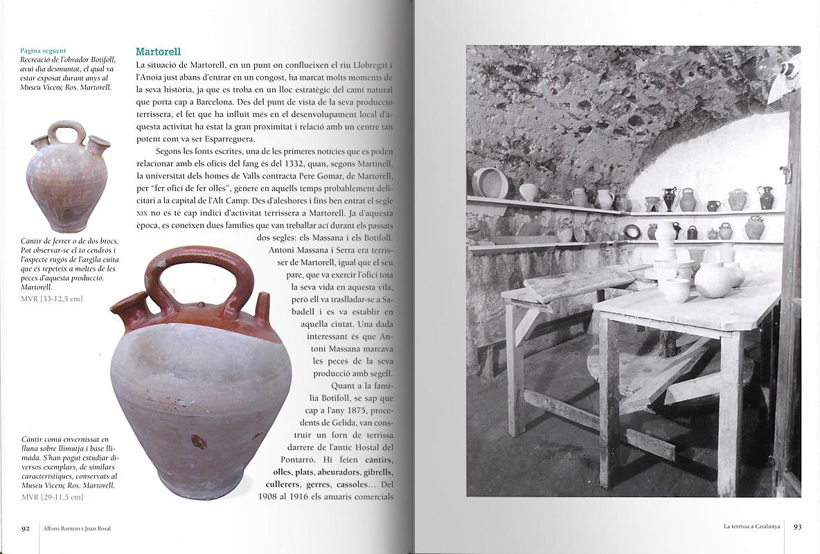 Páginas interiores del libro -La terrissa a Catalunya-