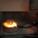 Técnica de cerámica de micro-rakú