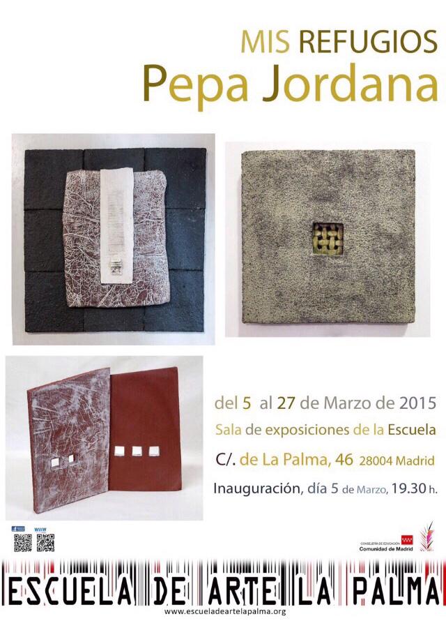 Cartel de la exposición de Pepa Jordana en la Escuela de Arte de la Palma