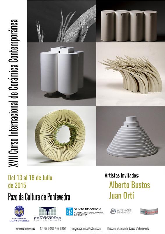 Cartel del XVII Curso Internacional de Cerámica Contemporánea de Pontevedra
