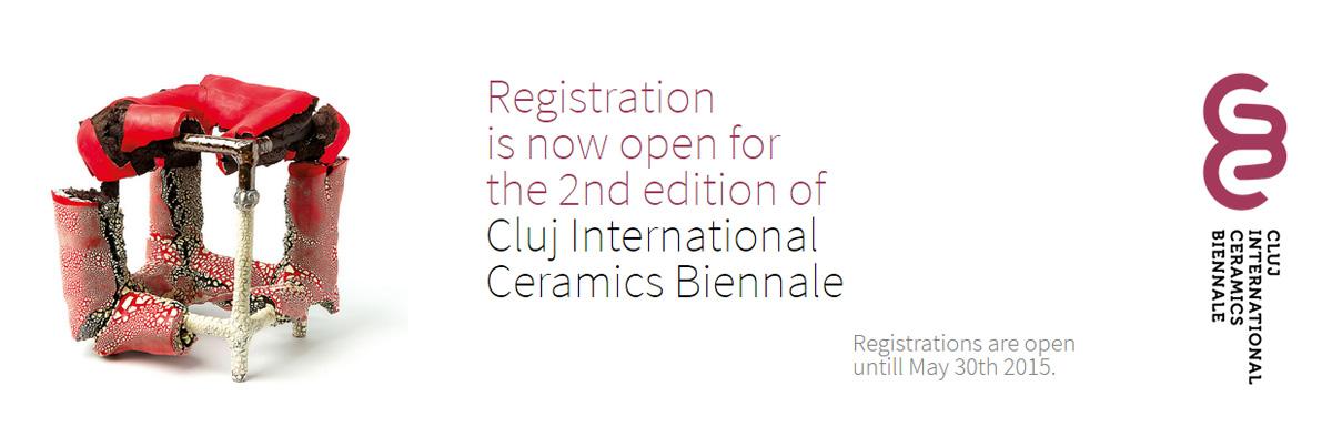 Cartel de la Bienal de cerámica de Cluj, Rumania